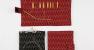 ITO Stofftaschen rot für 12,5cm Nadelspitzen und schwarz für ITO Rundstricknadeln
