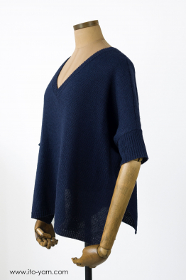 KITAMI Pullover Orient Blue