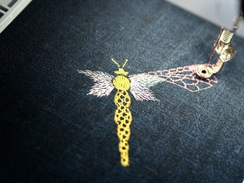 ITO Iki dragonfly embroidery