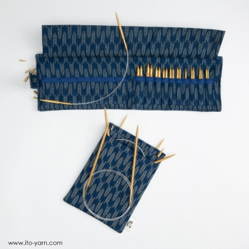 ITO Fabric Cases blue for 5cm ITO needle tips and ITO circular needles