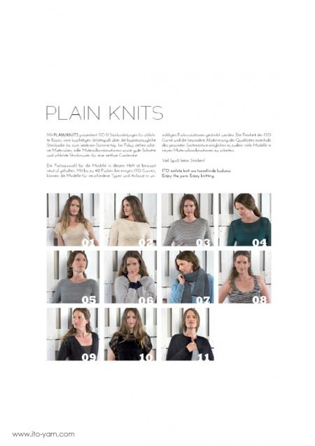 ITO Strickmagazin Nr. 3 PLAIN KNITS Introduction