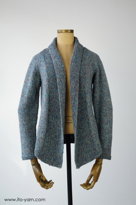 MURA Cardigan in Konpeito #51 blue