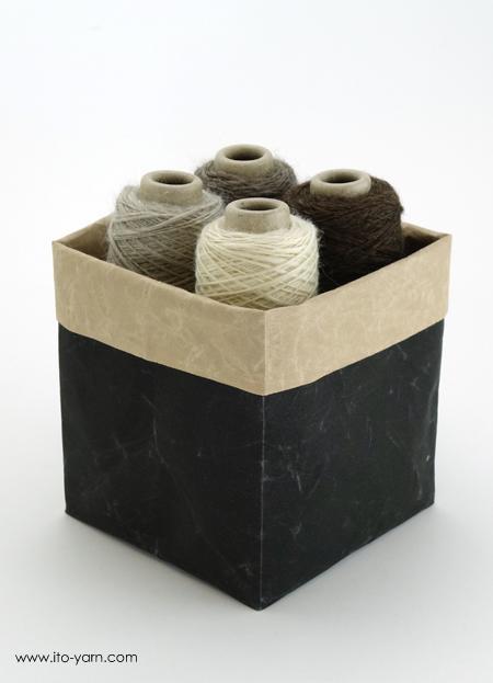 Yarn Box Small Schwarz / Natur