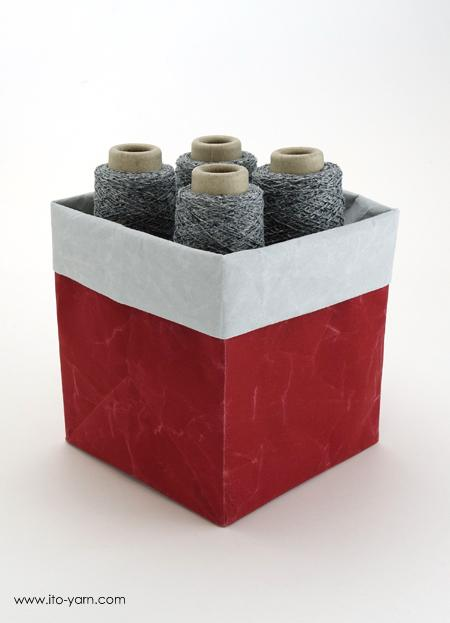 ITO Yarn Box Small Rot / Grau