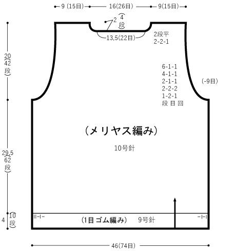 Japanese Knitting Pattern - Graph